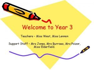 Welcome to Year 3 Teachers Miss West Miss