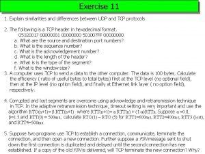 Exercise 11 1 Explain similarities and differences between