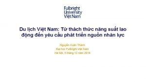 Du lch Vit Nam T thch thc nng