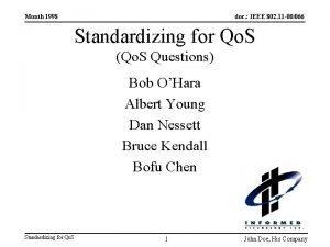 Month 1998 doc IEEE 802 11 00066 Standardizing