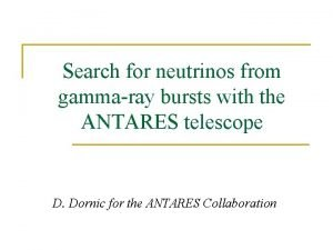 Search for neutrinos from gammaray bursts with the