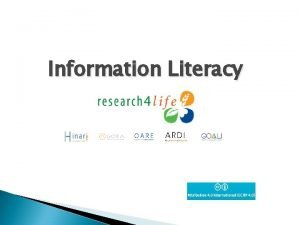 Information Literacy Table of Contents Background definition of