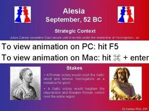 Alesia September 52 BC Strategic Context Julius Caesar