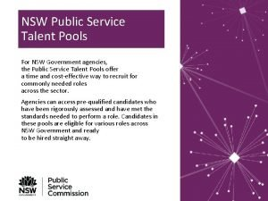 NSW Public Service Talent Pools For NSW Government