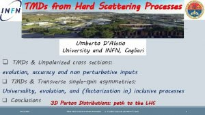 TMDs from Hard Scattering Processes Umberto DAlesio University