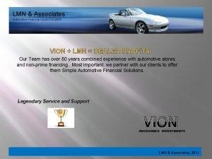 LMN Associates Automotive Financial Solution Experts VION LMN