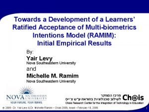 Towards a Development of a Learners Ratified Acceptance