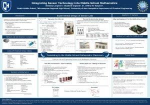 Integrating Sensor Technology into Middle School Mathematics Brittany