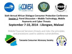 Sixth Annual African Dialogue Consumer Protection Conference Session