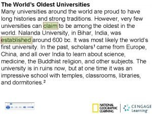 The Worlds Oldest Universities Many universities around the