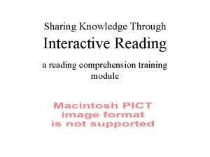 Sharing Knowledge Through Interactive Reading a reading comprehension