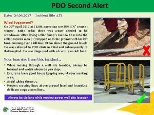 PDO Second Alert Date 24 04 2017 Incident