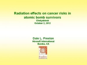 Radiation effects on cancer risks in atomic bomb