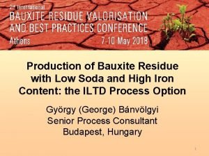 Production of Bauxite Residue with Low Soda and