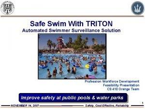 Safe Swim With TRITON Automated Swimmer Surveillance Solution