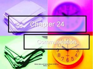 Chapter 24 Communication Mosby items and derived items