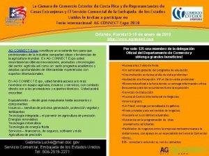 La Cmara de Comercio Exterior de Costa Rica
