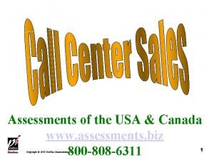 Assessments of the USA Canada www assessments biz