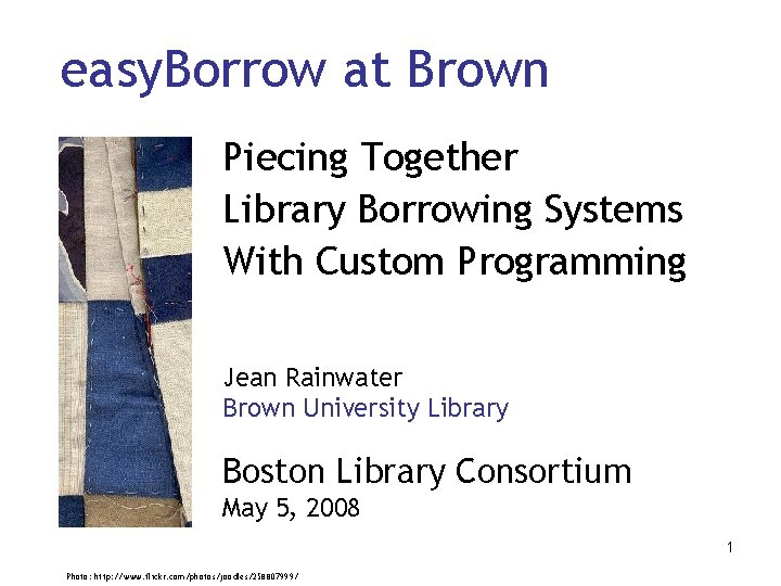 easy Borrow at Brown Piecing Together Library Borrowing