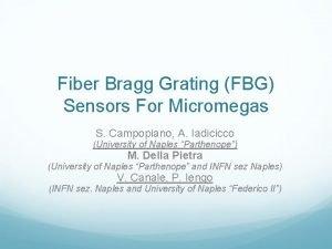 Fiber Bragg Grating FBG Sensors For Micromegas S