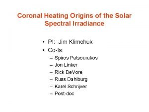 Coronal Heating Origins of the Solar Spectral Irradiance