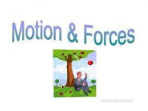 Amusement Park Forces What is Motion Motion A