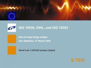 ISO 15926 OWL and ISO 10303 How to