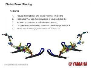 Electric Power Steering Features 1 Reduce steering torque