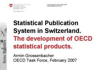 Federal Department of Home Affairs FDHA Federal Statistical