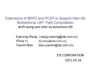 Extensions of BRPC and PCEP to Support InterAS