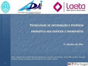 TECNOLOGIAS DE INFORMAO E EFICINCIA ENERGTICA NOS EDIFCIOS