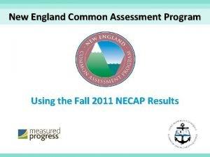 New England Common Assessment Program Using the Fall