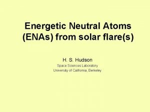 Energetic Neutral Atoms ENAs from solar flares H