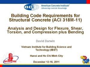 Building Code Requirements for Structural Concrete ACI 318