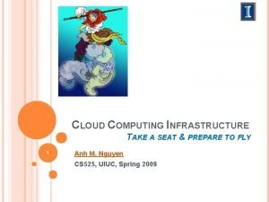 CLOUD COMPUTING INFRASTRUCTURE TAKE A SEAT PREPARE TO