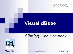 Visual d Bsee Albalog The Company Visual d
