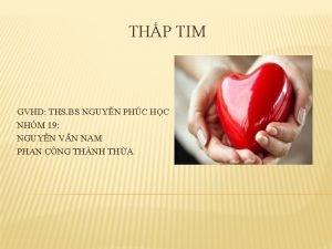 THP TIM GVHD THS BS NGUYN PHC HC