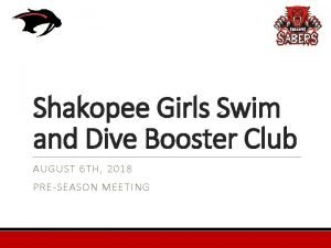 Shakopee Girls Swim and Dive Booster Club AUGUST