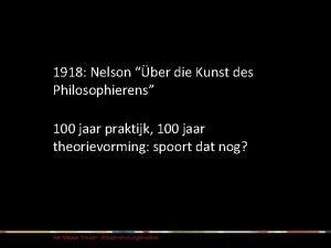 1918 Nelson ber die Kunst des Philosophierens 100