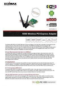 EW7612 PIn V 2 N 300 Wireless PCI