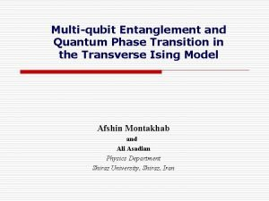 Multiqubit Entanglement and Quantum Phase Transition in the