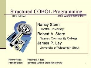 Structured COBOL Programming 10 th edition John Wiley