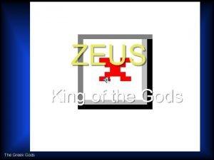 ZEUS King of the Gods The Greek Gods