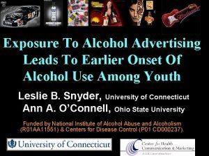 Exposure To Alcohol Advertising Leads To Earlier Onset