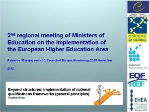 2 nd regional meeting of Ministers of Education