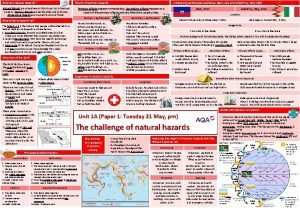 What are natural hazards Natural hazards are natural