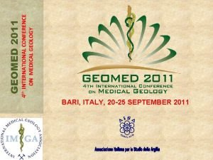 BARI ITALY 20 25 SEPTEMBER 2011 4 th