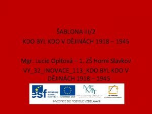 ABLONA III2 KDO BYL KDO V DJINCH 1918