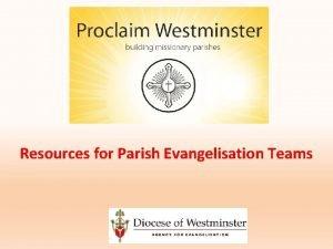Resources for Parish Evangelisation Teams Resources Books Resources