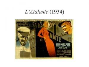 LAtalante 1934 Son of Eugne Bonaventure Vigo alias